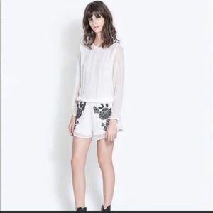 White Zara romper